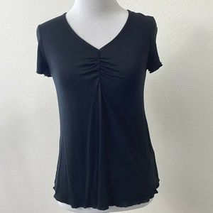 Love Fire Black Knit Short Sleeve Top NWT Size XS